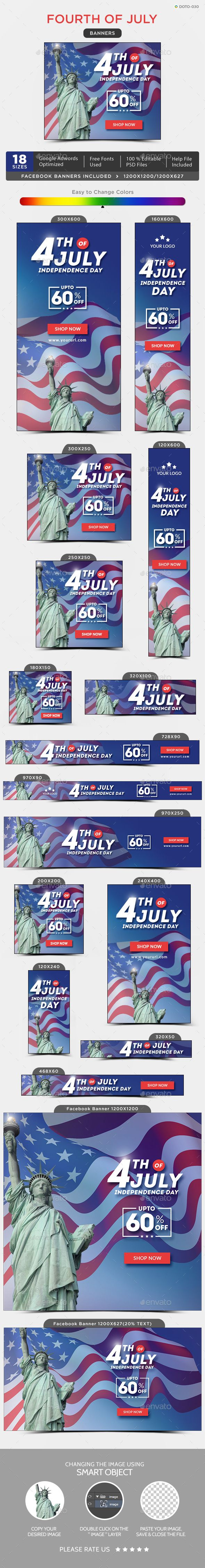Independence Day Sale Banners — Photoshop PSD #gif banner #animated banner • Available here → https://graphicriver.net/item/independence-day-sale-banners/20220111?ref=pxcr