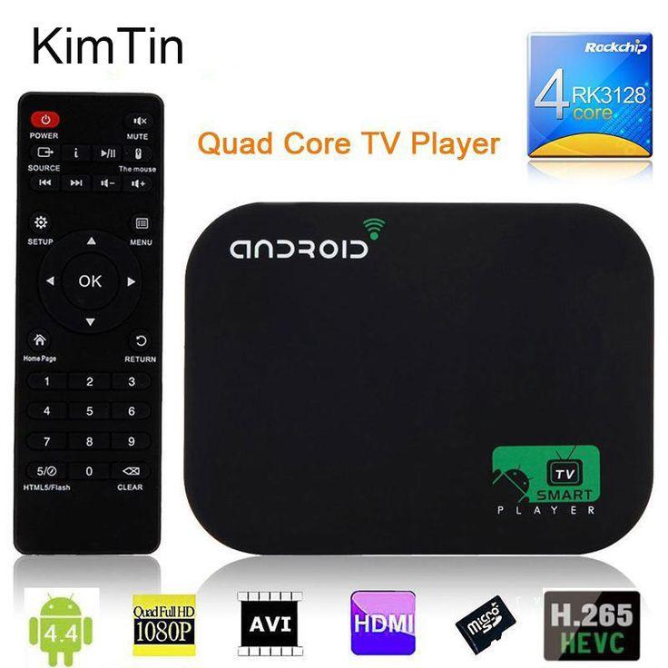 Free shipping 8GB Quad Core Android Smart TV BOX 1080P Media Player XBMC KODI YOUTOBE Google WIFI HDD player + Remote Control