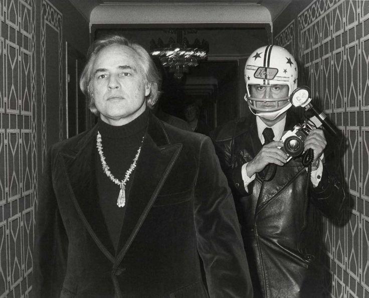 Марлон Брандо и Рон Галелла, 1974, Нью–Йорк — Фотографии из прошлого