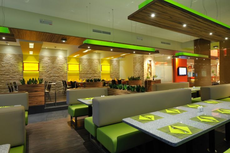 Green Restaurant Interior : Restaurant greens and neon lighting on pinterest