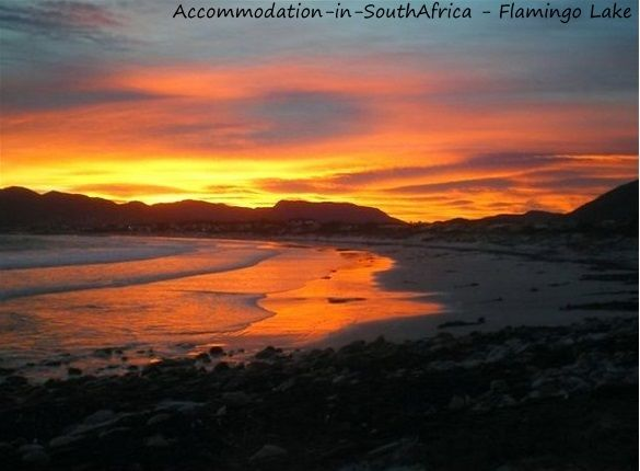Beautiful sunsets at Flamingo Lake. http://www.accommodation-in-southafrica.co.za/WesternCape/Hermanus/FlamingoLakeSelfCateringCottages.aspx