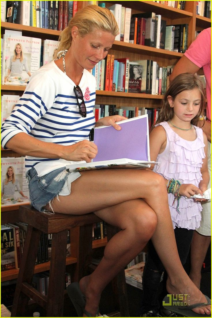 Gwyneth Paltrow, age 38, at an east hampton book signing, she looks fab - what amazing legs! Description from pinterest.com. I searched for this on bing.com/images