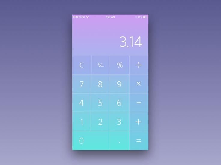 84 best UI - Calculator images on Pinterest | Calculator, Interface ...