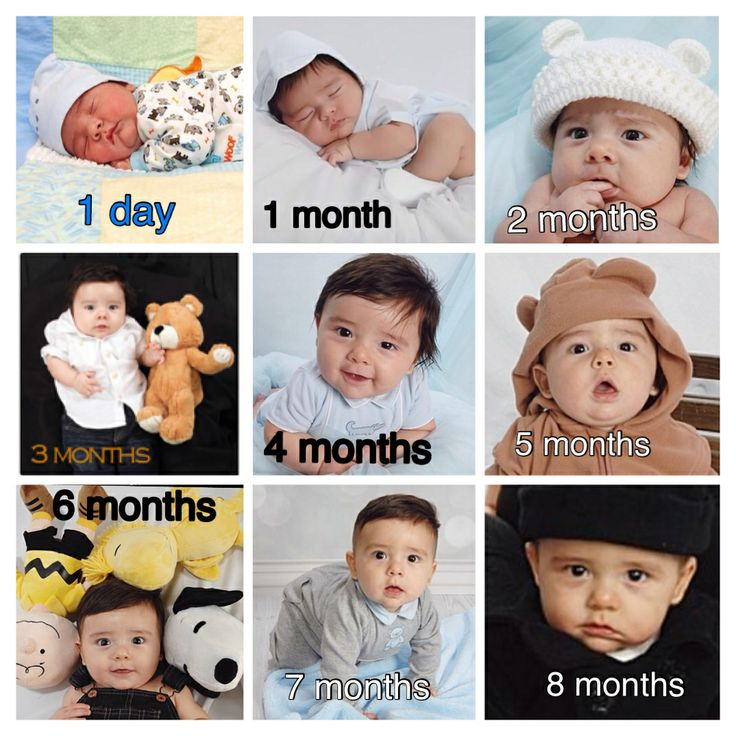 Baby growth. 1 day old 1 month old 2 months old 3 months old 4 ...