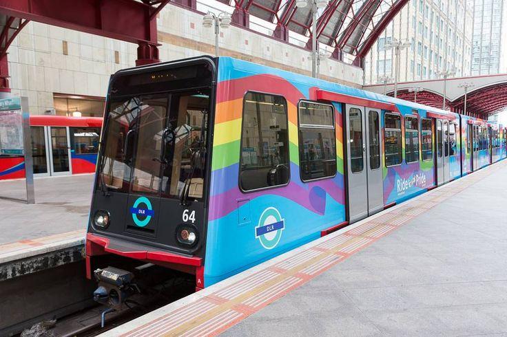Rainbow train for London Gay Pride