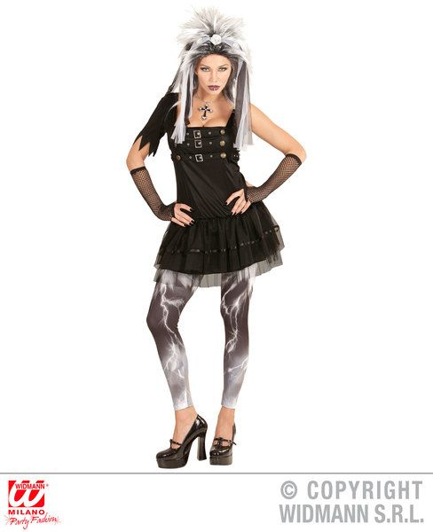Ladies Gothic Punk Girl Costume For Halloween Emo Fancy