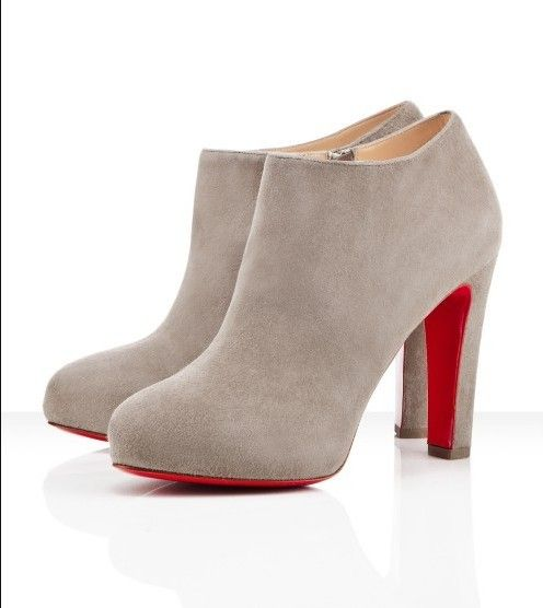 These even have my name on them :) Christian Louboutin Vicky Booty Ankle  Boots Grey