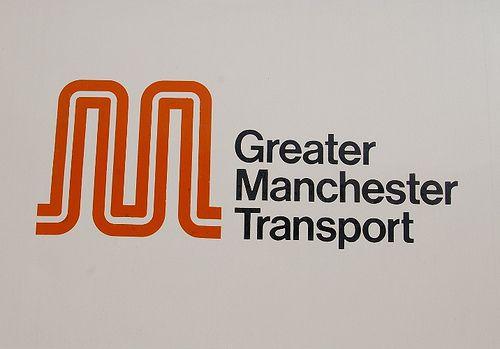 Greater manchester transport logo. bold typographical image, using memorable symbolism.
