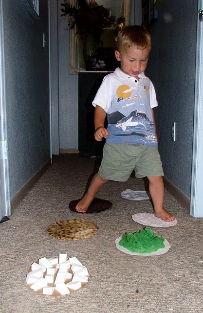 Sensory steps - a great way to learn about textures and desensitize sensitive little feet. *repinned by wonderbaby.org