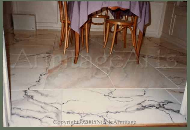 Marble Floor Faux Finish Photo Only Flooring Pinterest