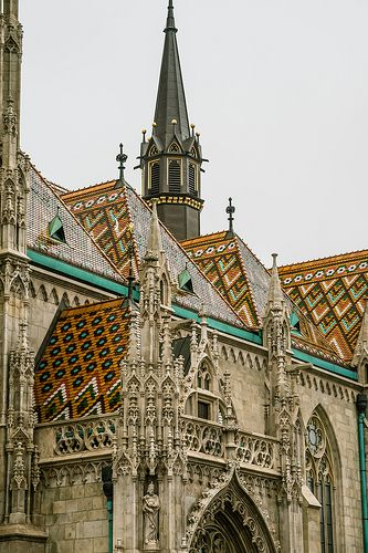 ˚Matthias Church and its Zsolnay ceramic roof tiles - Budapest, HU