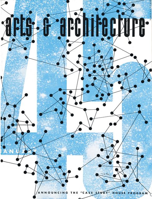 Cover layout for Arts & Architecure, 1945, by Herbert Matter.
