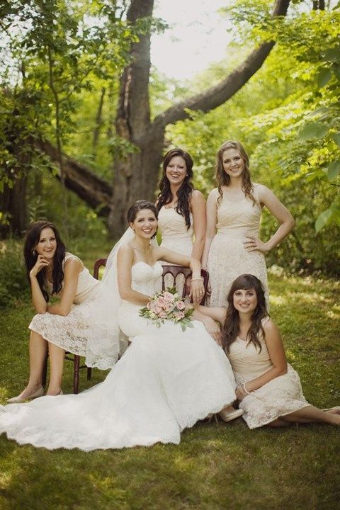 45 Best Beautiful Lace Bridesmaids' Dresses Images On