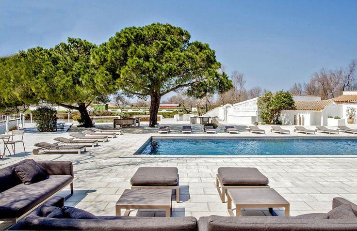 Mas de la Fouque, hotel camargue, france, pool.