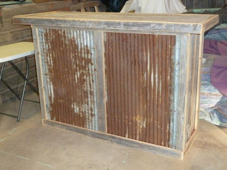 Reclaimed Wood And Tin Bar A Good Accent Piece For The
