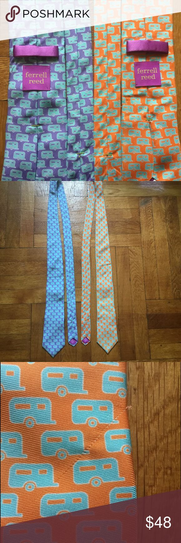 2 Ferrel Reed ties tommy boss armani suits 2 ties in great condition. Orange tie has a slight flaw which is shown in the last pic. Still a DEAL. Accessories Ties