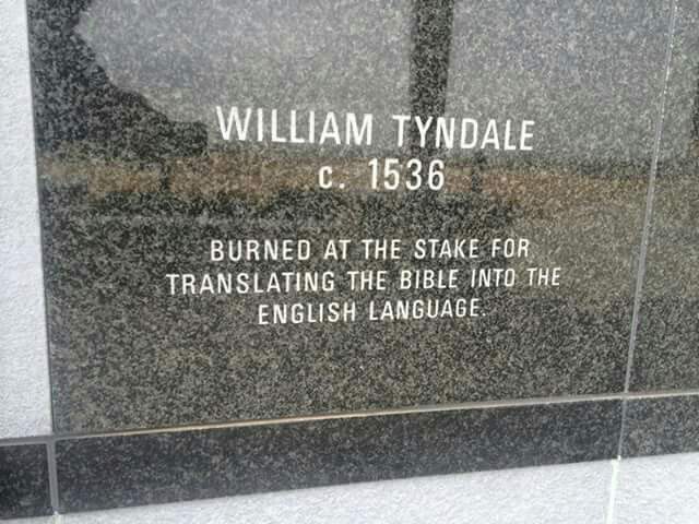 William Tyndale. C 1536. Burned at the stake for translating the Bible into the English language.