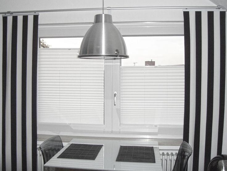 Plissee Küche plissee blackandwhite küche tisch le macht euer zuhause