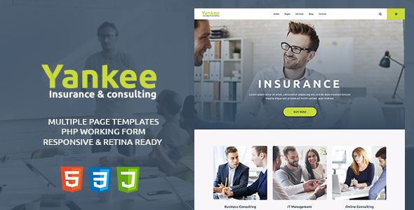 Yankee - Insurance & Consulting HTML Template by modeltheme | ThemeForest