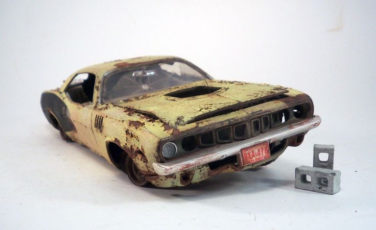 1971 Plymouth Barracuda Pro Built Weathered Barn Find Hemi Custom 1/24 Revell | eBay
