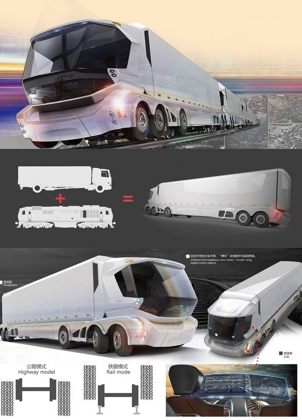 The Rail-Road #Vehicle is a new breed of freight-liner #trucks. How are they…