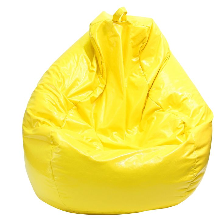 Gold Medal Yellow Large Tear Drop Wet Look Vinyl Bean Bag (Large Tear Drop Wet Look Vinyl Bean Bag)