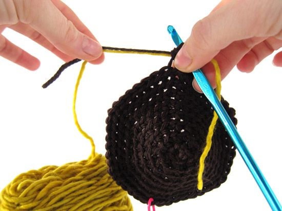 how to join yarn in tunisian crochet