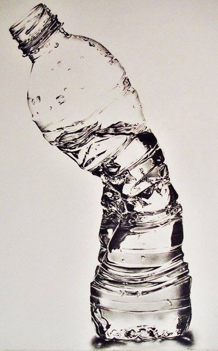 Crushed Waterbottle - Susan Kim (Pencil Drawing)