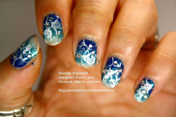 Summer Sea - Tutorial nail art (BornPrettyStore prod): https://youtu.be/yEWefUr9LHY  #bornprettystore #bornprettyfashion #tutorial #nailart #nails #summer #sea #estate #mare #spiaggia #beach #fashion #beauty #trend #youtube #youtuber #youtubeitalia #blogger #bloggeritalia