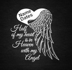 Angel Heart Wings In Memory of Personalize by CountryHeartDesignz