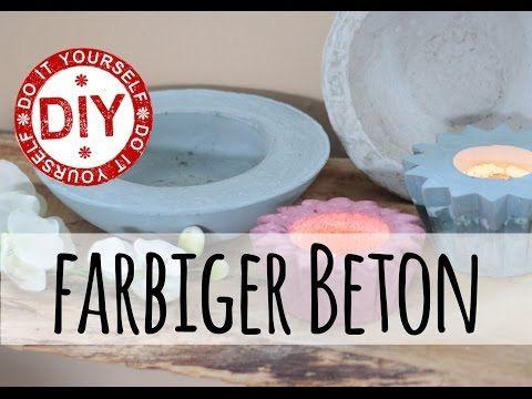 How To I Wohnaccessoires aus gefärbtem Beton I Deko Inspirationen Selbstgemacht - YouTube