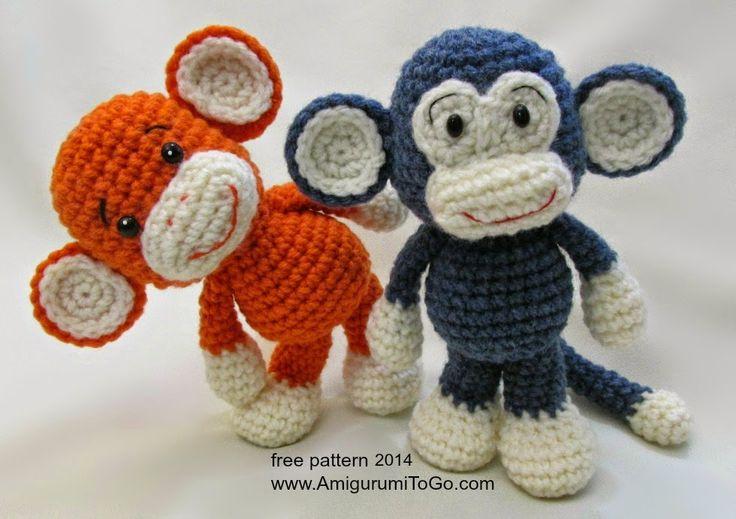 Simpático Mono Little Bigfoot Amigurumi - Patrón Gratis en Español aquí: https://drive.google.com/file/d/0B8rQM0SrUXCSdGo4QkFvLWRVQUU/view?pli=1 Patrón Original y con Videotutorial en Inglés aquí: http://www.amigurumitogo.com/2014/05/little-bigoot-monkey-free-amigurumi-pattern.html
