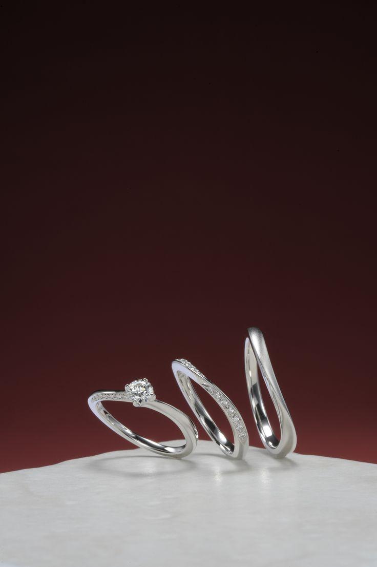 婚約指輪:宵の明星-よいのみょうじょう- ~希望の光~ / 結婚指輪:星あかり-ほしあかり- ~輝きに見守られて~