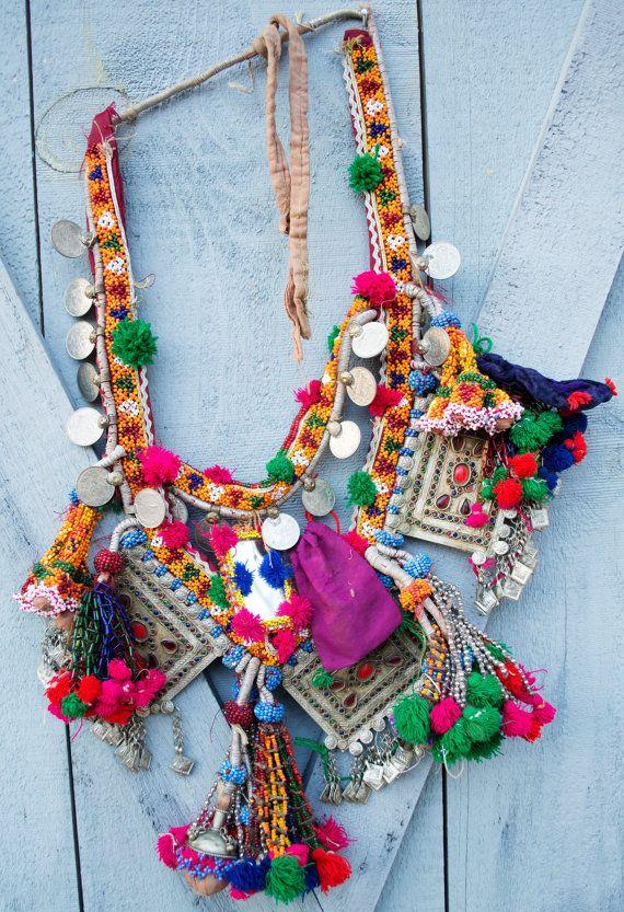 Vintage Kuchi Camel Pendant Set Dance Necklace Tribal by UberKuchi, $74.95