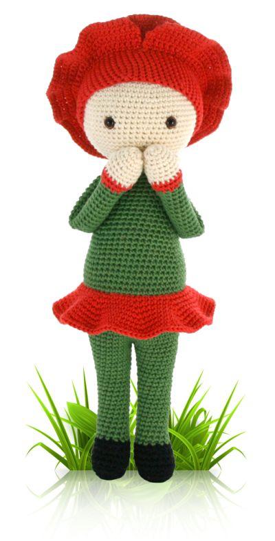 Amigurumi Halloween Schemi : Poppy Paola Zabbez crochet amigurumi flower dolls ...