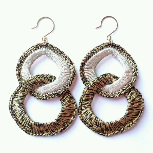 Fashion Womens Jewelry Handmade Earrings Metallic Yarn Dangle Earring