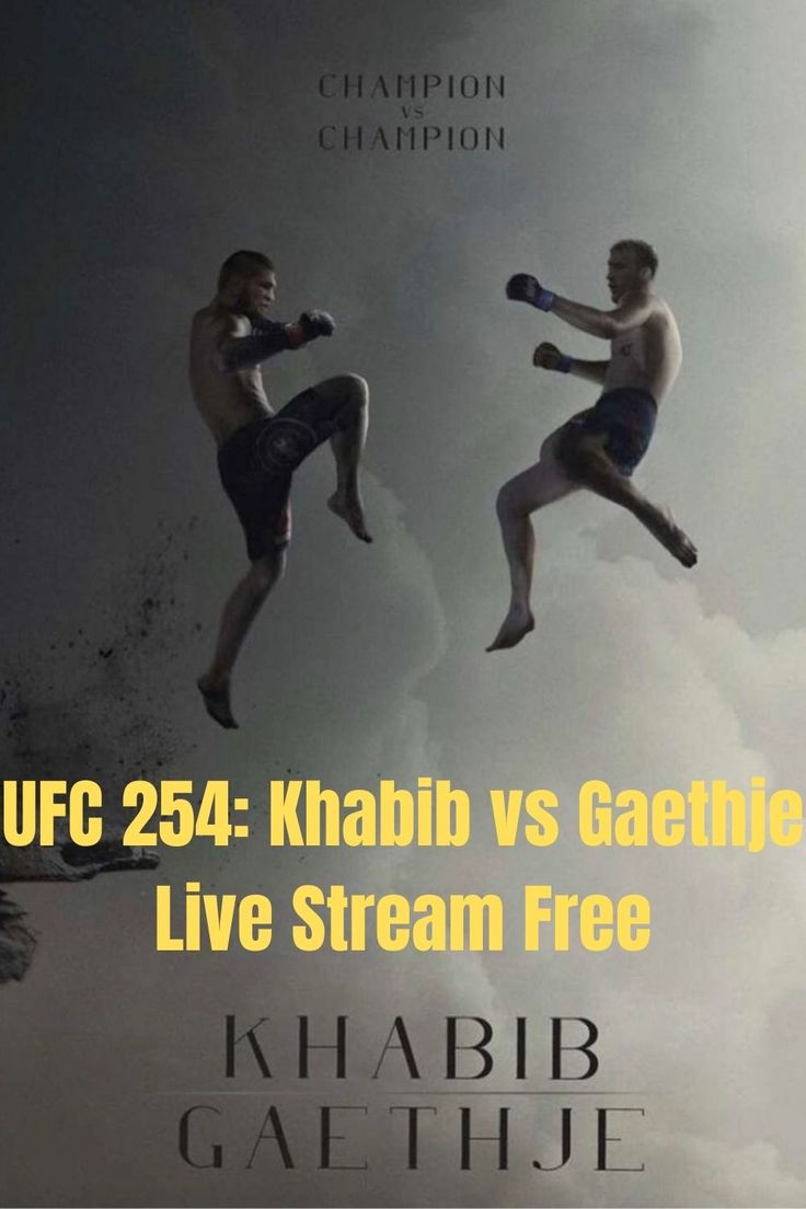 Pin on Watch UFC 254 Live Online | Khabib vs Gaethje Live