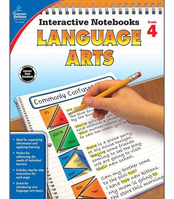 Interactive Notebooks: Language Arts Resource Book Fourth Grade
