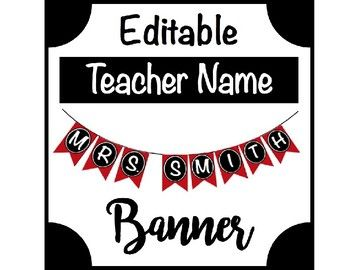 Help your students to learn your name right off that bat this year with this Teacher Name Banner. As a Music Teacher, it takes my students a little longer to remember my name. This year, they shouldn't have any problems with this displayed on my piano, perhaps on a classroom teacher's desk! _____________________________________________________________________ Just insert your