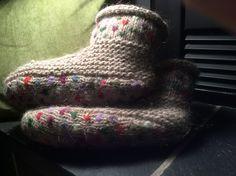 Ravelry: annkinn's Thrummed slippers