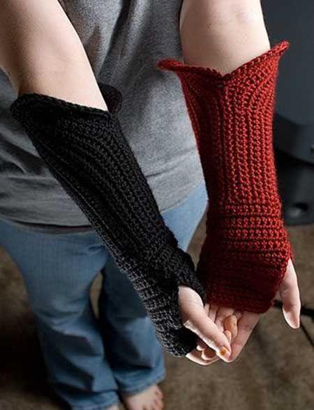 Parmaksız eldiven modelleri...