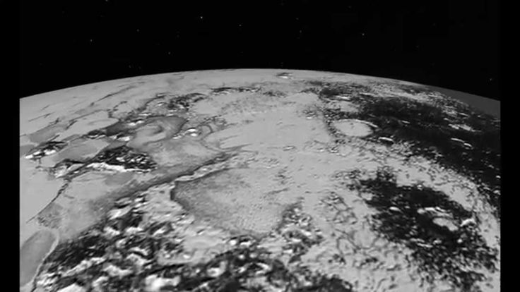 Published on Jul 24, 2015  This simulated flyover of two regions on Pluto, northwestern Sputnik Planum (Sputnik Plain) and Hillary Montes (Hillary Mountains), was created from New Horizons close-approach images. Sputnik Planum has been informally named for Earth's first artificial satellite, launched in 1957. Hillary Montes have been informally named for Sir Edmund Hillary, one of the first two humans to reach the summit of Mount Everest in 1953. The images were acquired by the Long Range…