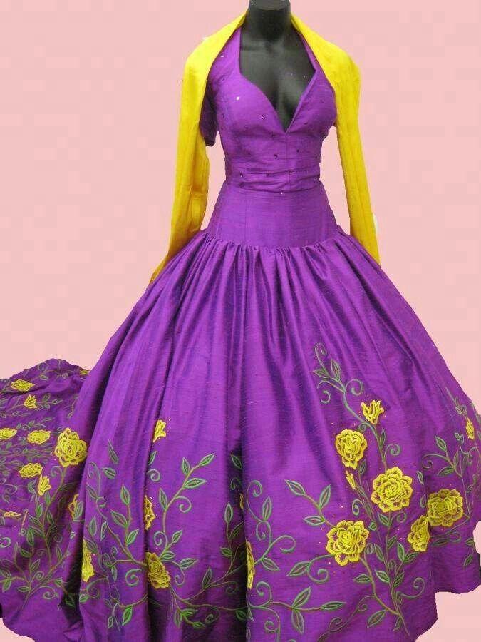 46 best Vestidos Tradicionales images on Pinterest | Mexican dresses ...