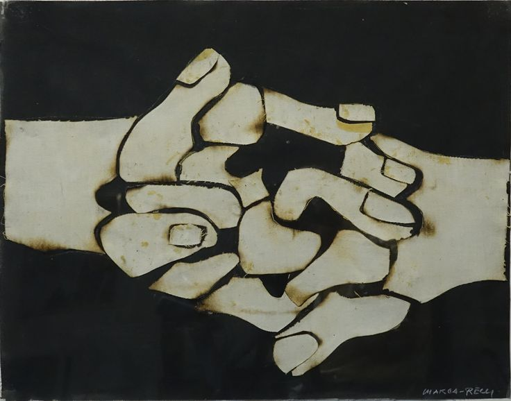 Conrad Marca-Relli, Dual Personality, 1996 Canvas collage on canvas, 22 ½ x 27 3/8 inches