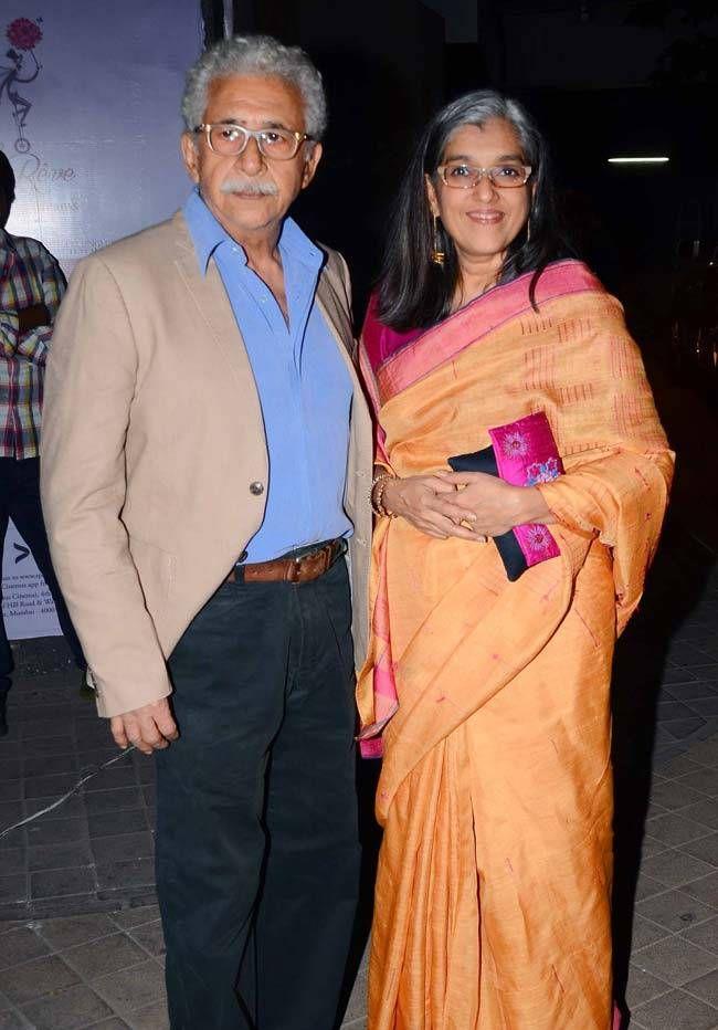 Naseerudding Shah and Ratna Pathak Shah