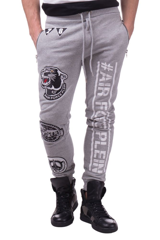 3a68625b327385 PHILIPP PLEIN Jogger Trousers Size M LIMITED EDITION Melange Patched RRP  670 #fashion #clothing #shoes #accessories #mensclothing #pants (ebay link)
