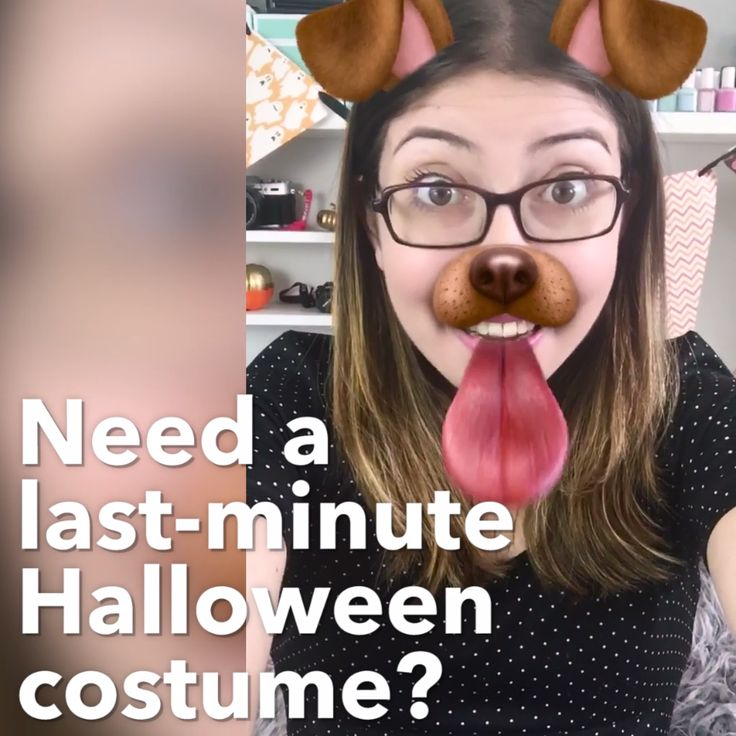 DIY Snapchat Dog Costume