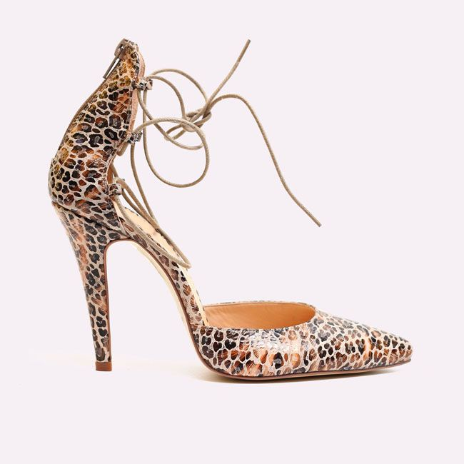 pantofi cu toc animal print