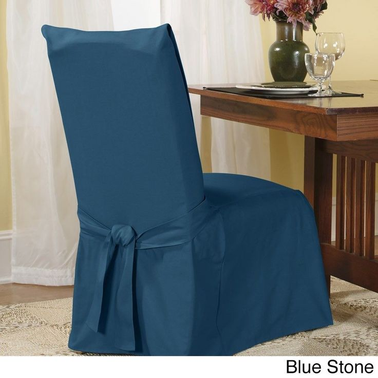 Sure Fit Cotton Classic Dining Chair Slipcover Sage Green Room SlipcoversDining
