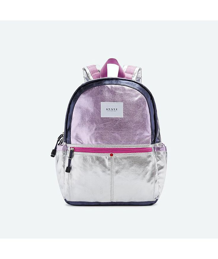 State Bags Kane Pink/Silver Backpack